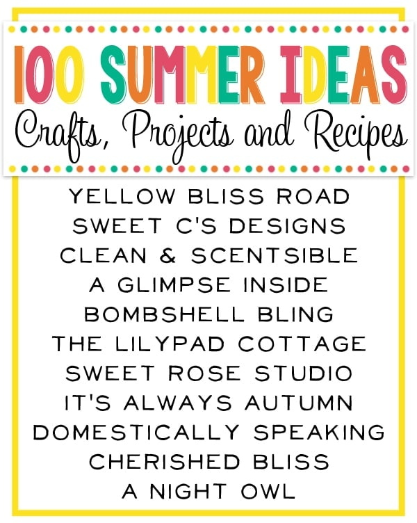 100 Summer Ideas Graphic