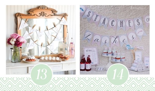 Baby shower ideas and printable packs for Baby shower decoration packs