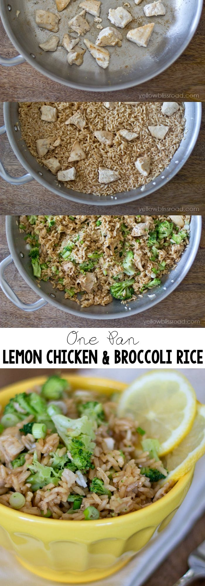 Easy One Pan Lemon Chicken and Broccoli Rice #ad #howfreshstaysfresh