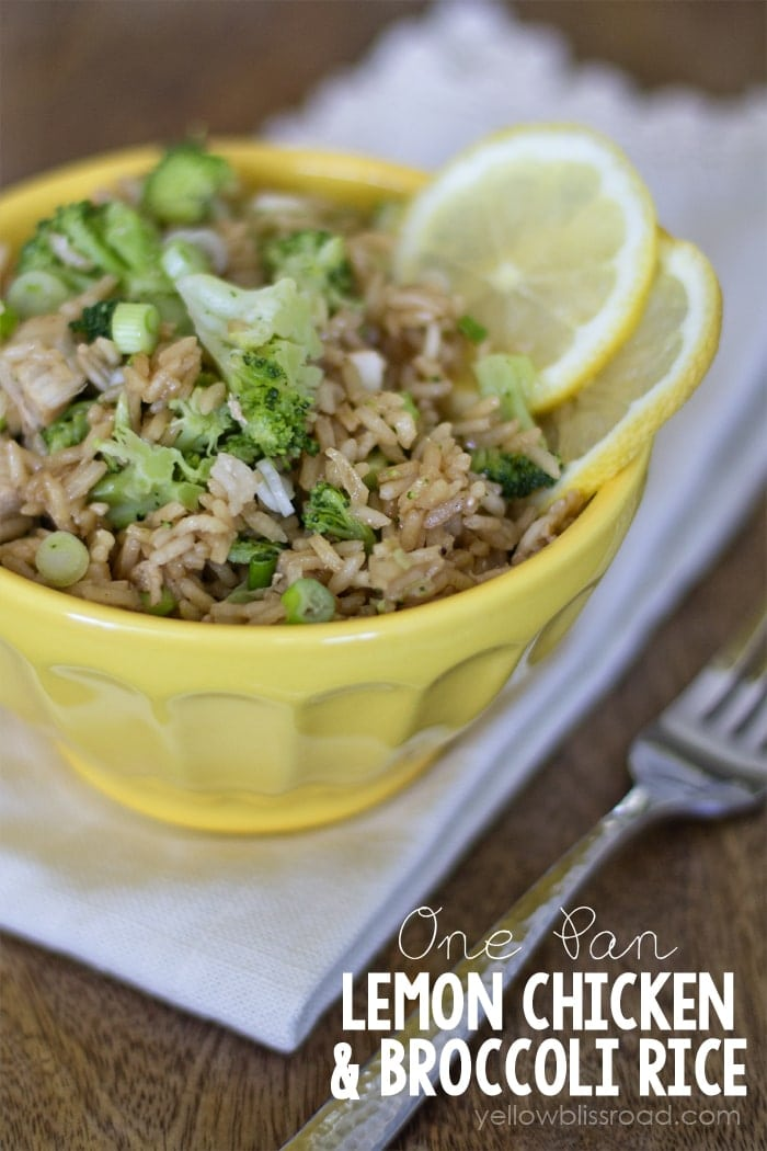 One Pan Lemon Chicken and Broccoli Rice