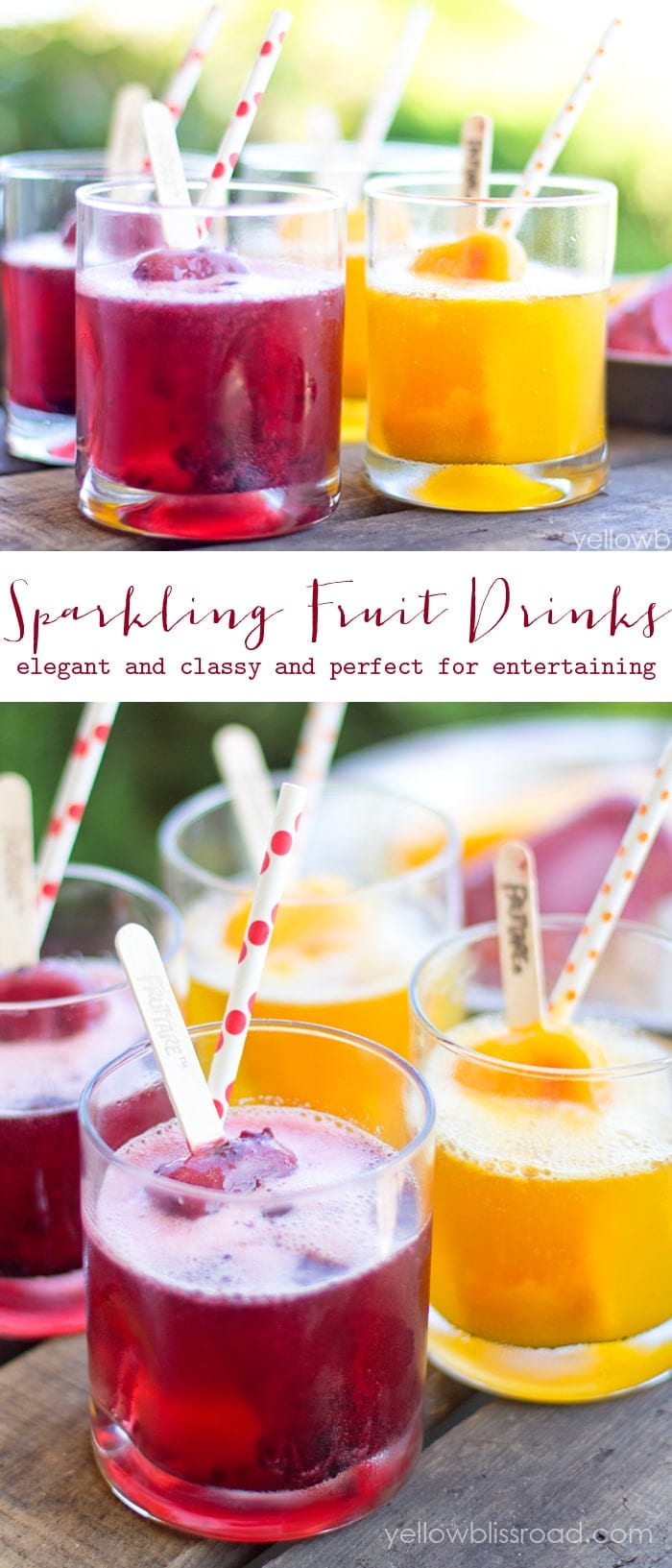 Sparkling Fruit Drinks - Elegant and classy and perfect for summer entertaining!