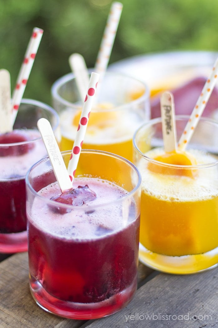 Sparkling Fruit Drinks - Perfect for summer entertaining!