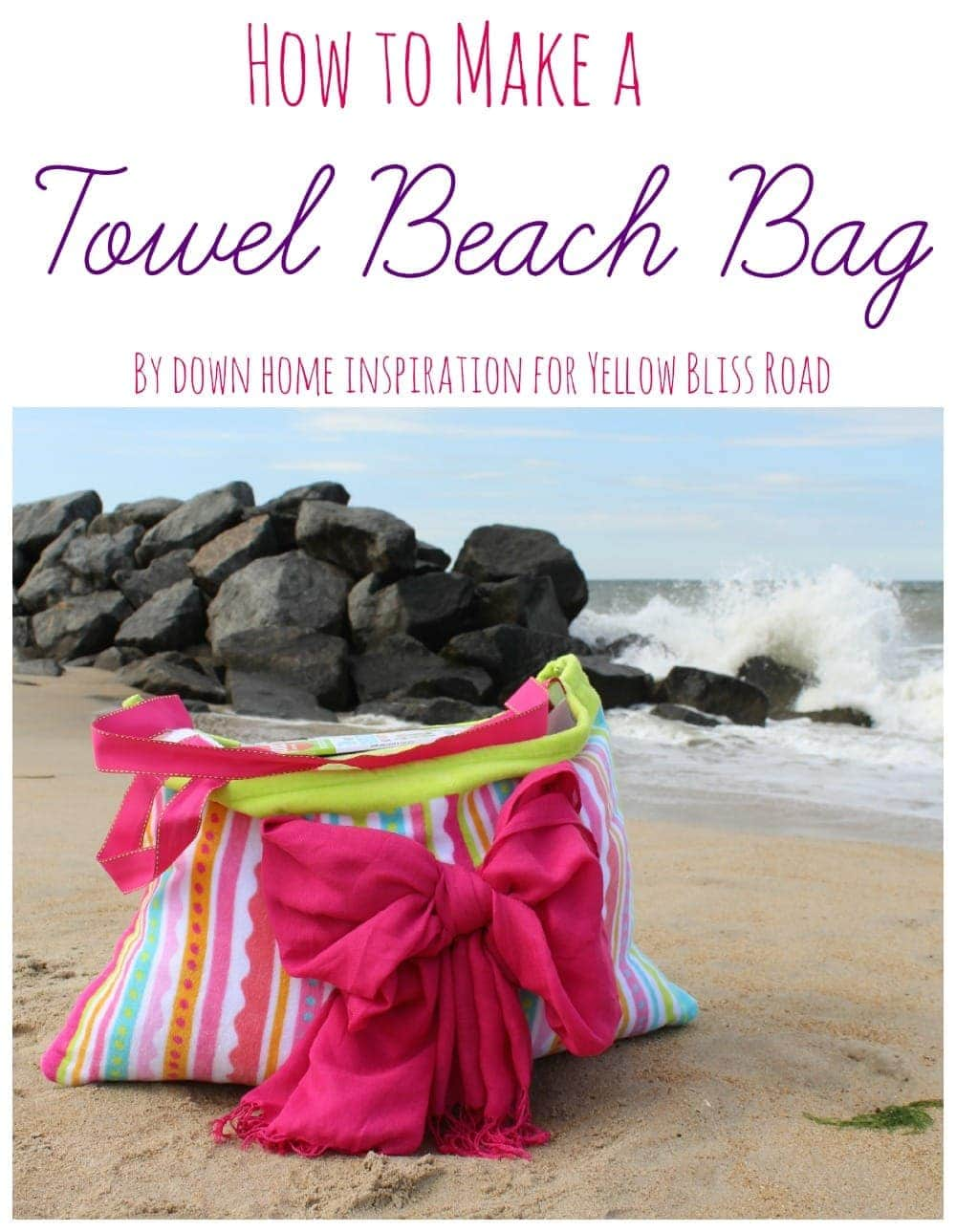How to Make a Beach Towel Bag - An Easy Tutorial!