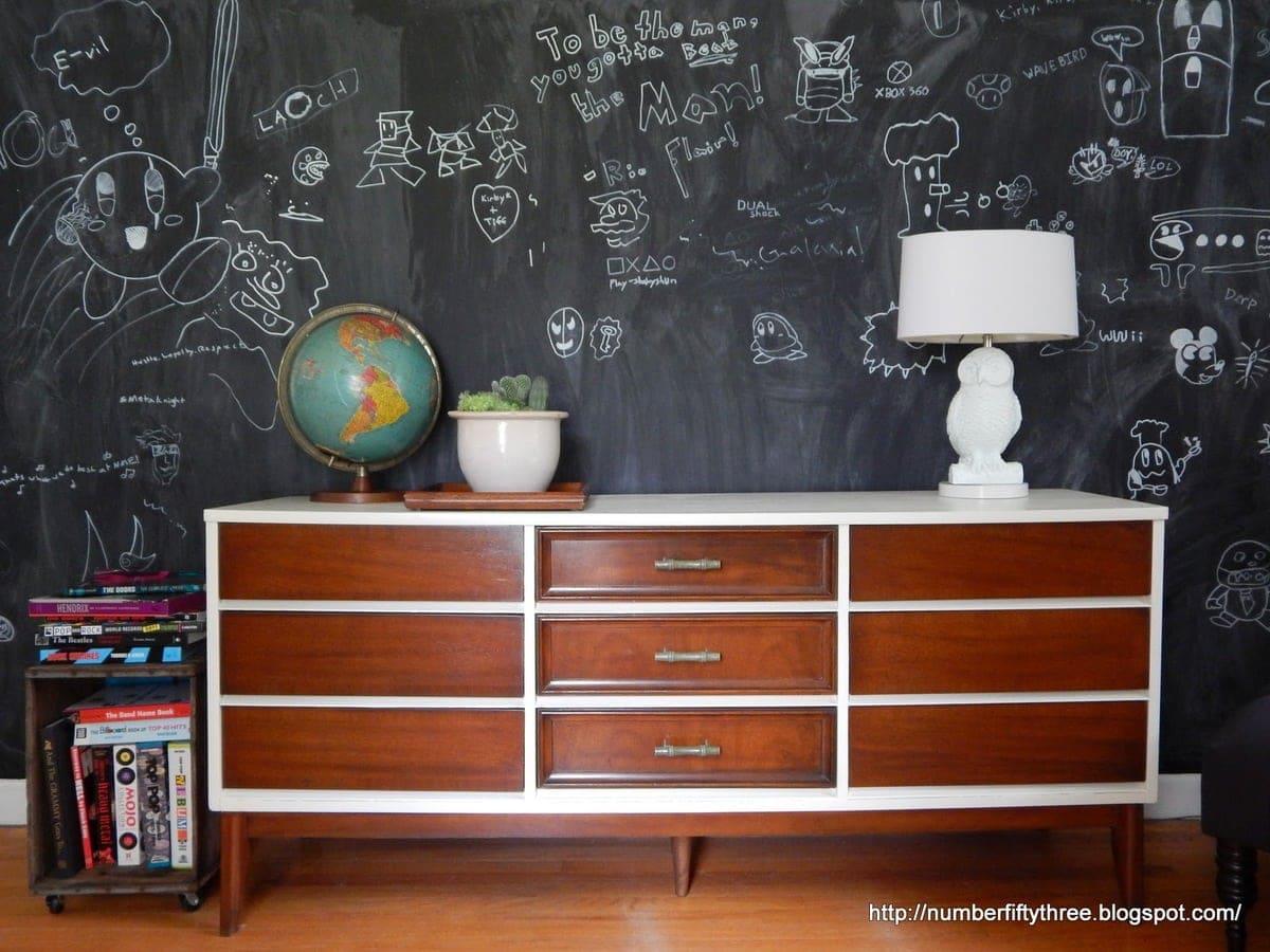 A wooden dresser