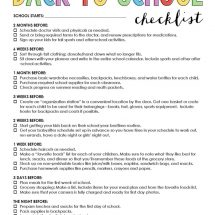 Free Printable Back to School Checklist