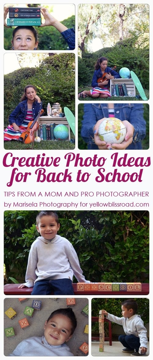 Creative Photo Ideas for Back to School - Tips from a Mom and Pro Photographer