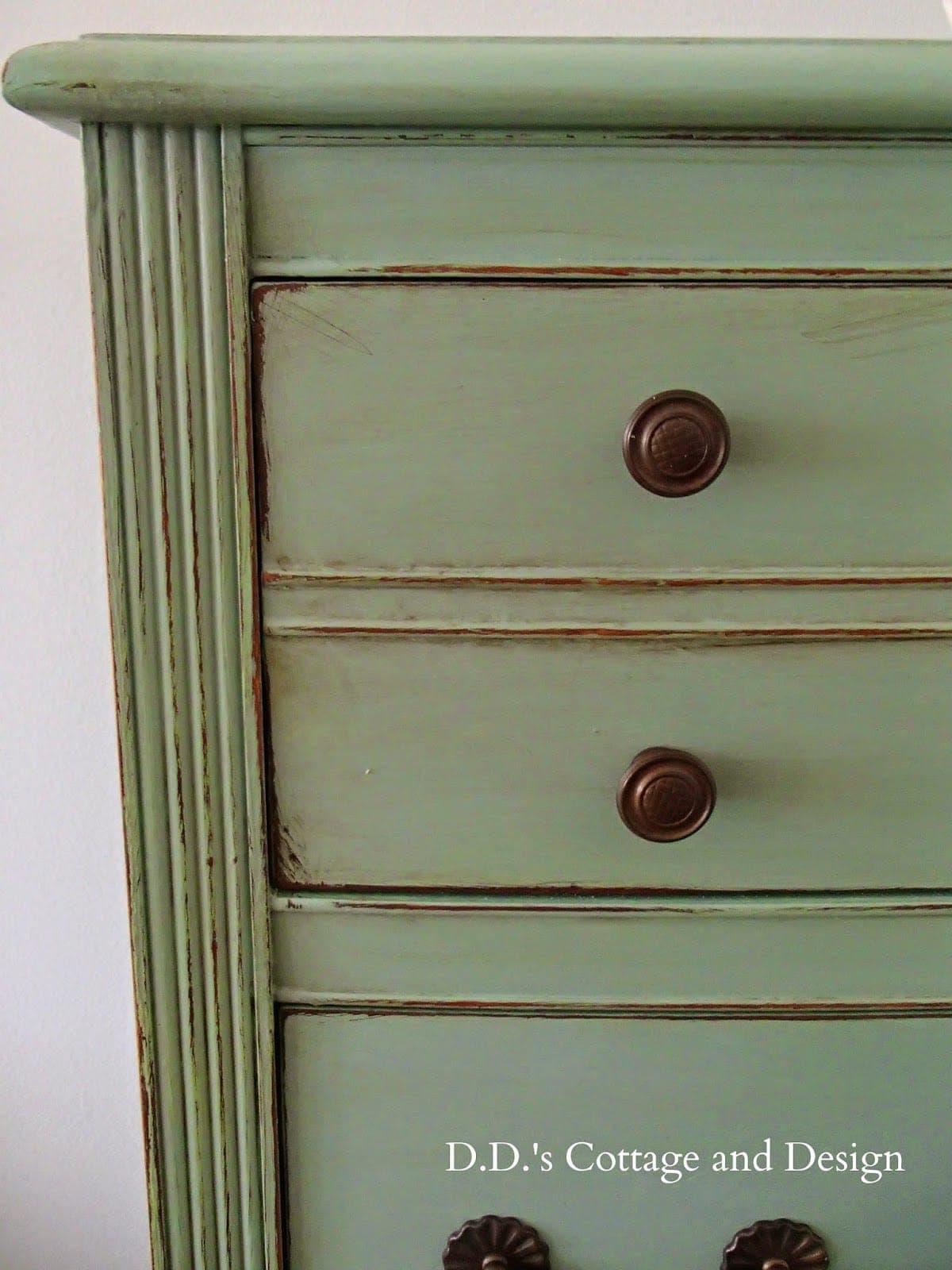 A close up of a dresser