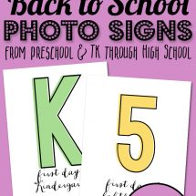 First Day of School Photo Checklist & Printable Props