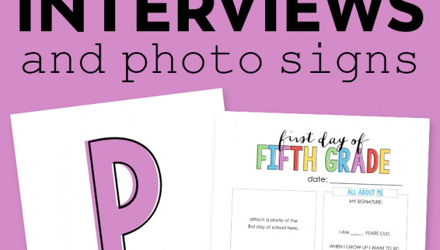 "Back to School ""All About Me"" Free Printable"