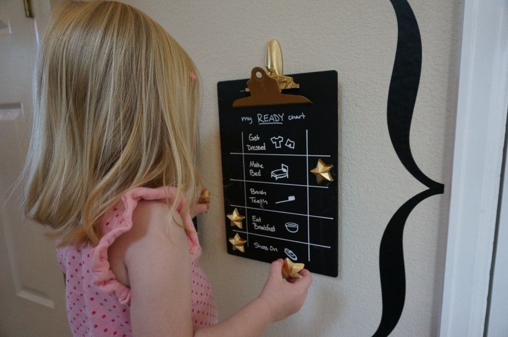 magnetic chalkboard clipboard ready chart