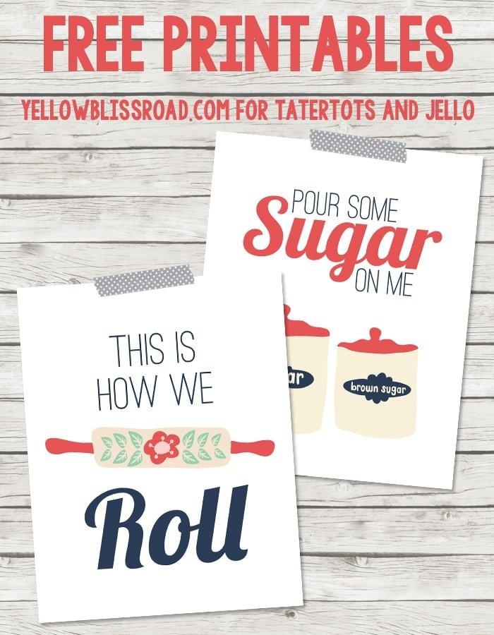 Free Printable Kitchen Artwork