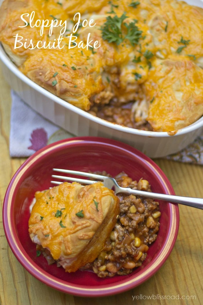 Sloppy Joe Biscuit Bake - So easy and takes just a few ingredients for a warm, comforting meal