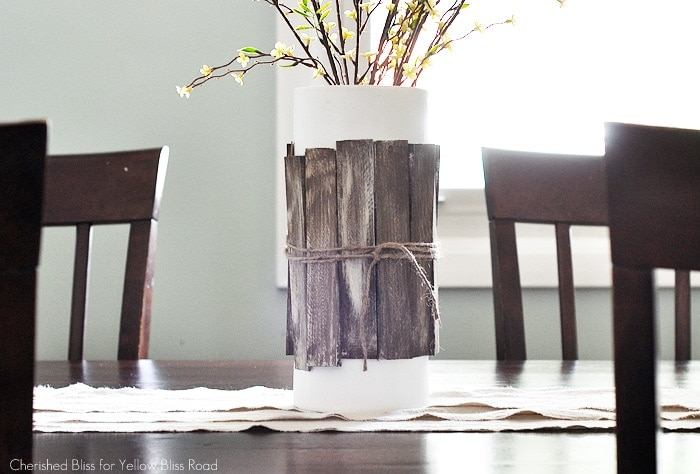 Five Minute Drop Cloth Table Runner