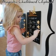 DIY Magnetic Chalkboard Clipboards