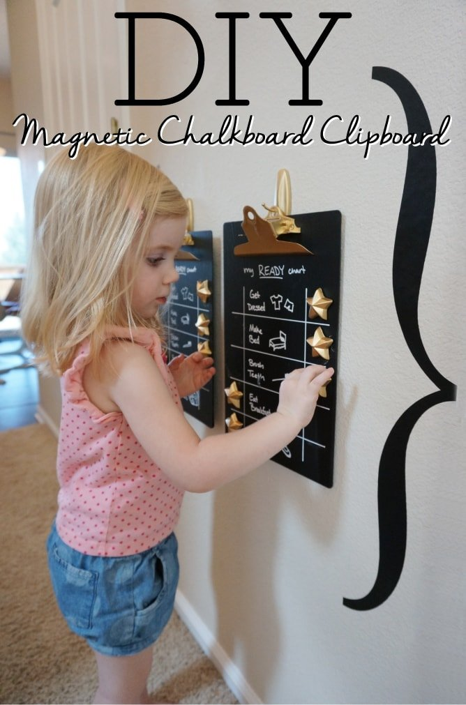 Magnetic Chalkboard Clipboard