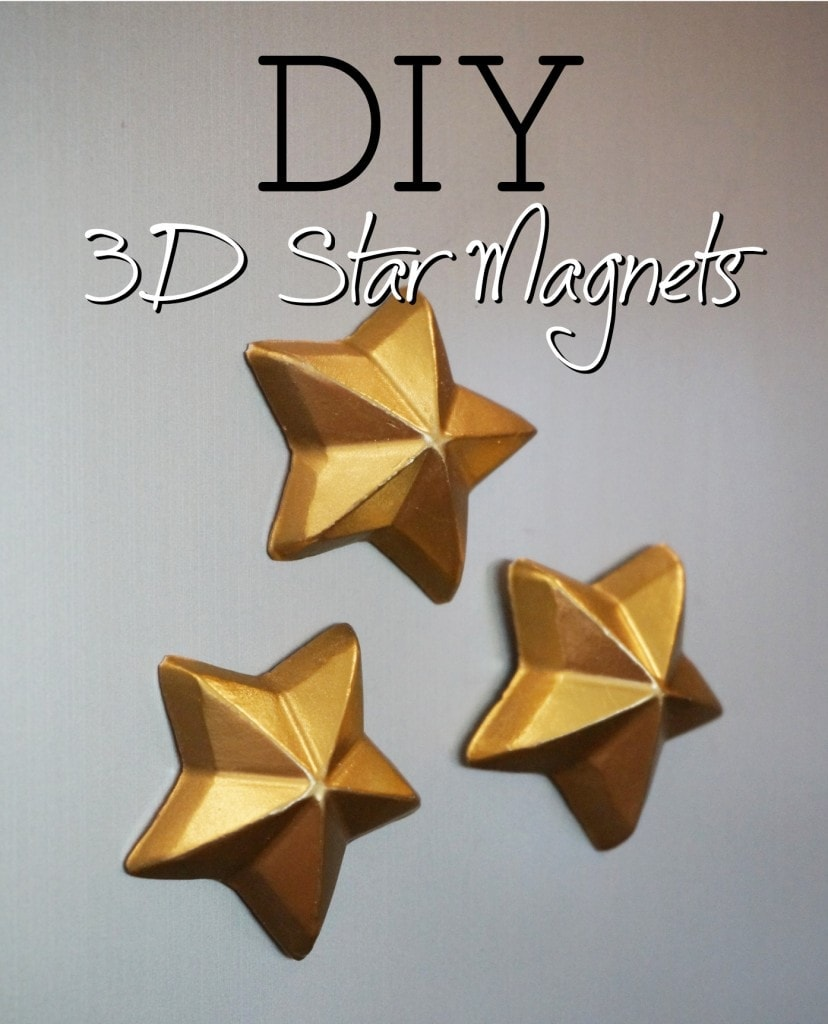 3D gold star magnets