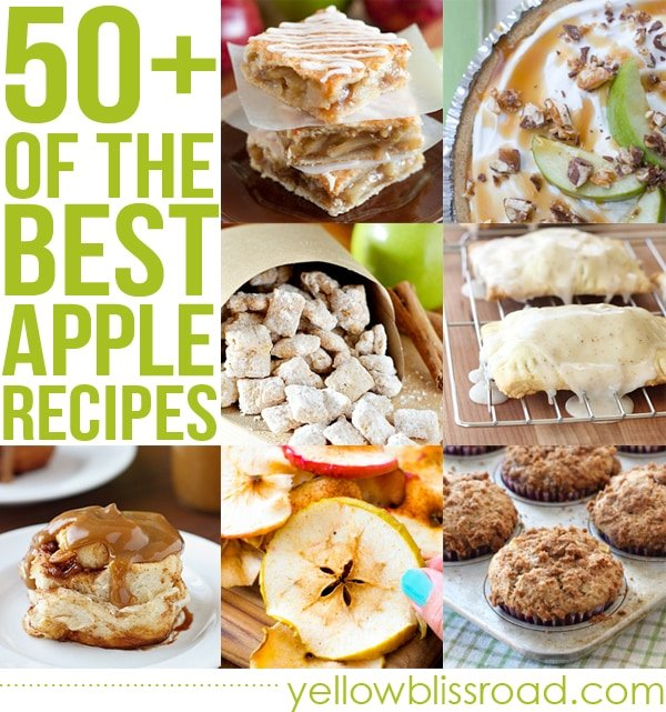 Social media image of 50+ of the best apple recipes