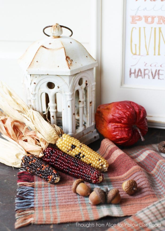 Fall Harvest Inspired Vignette
