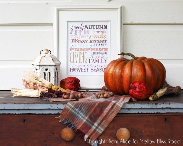 Fall Subway Art Style Free Printable
