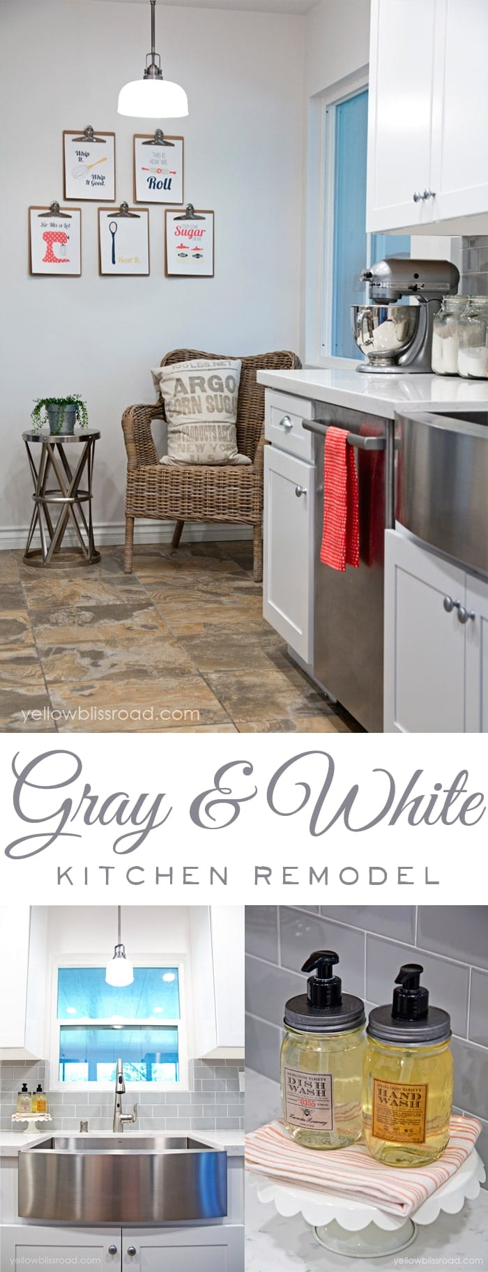 Gray and White Kitchen Remodel