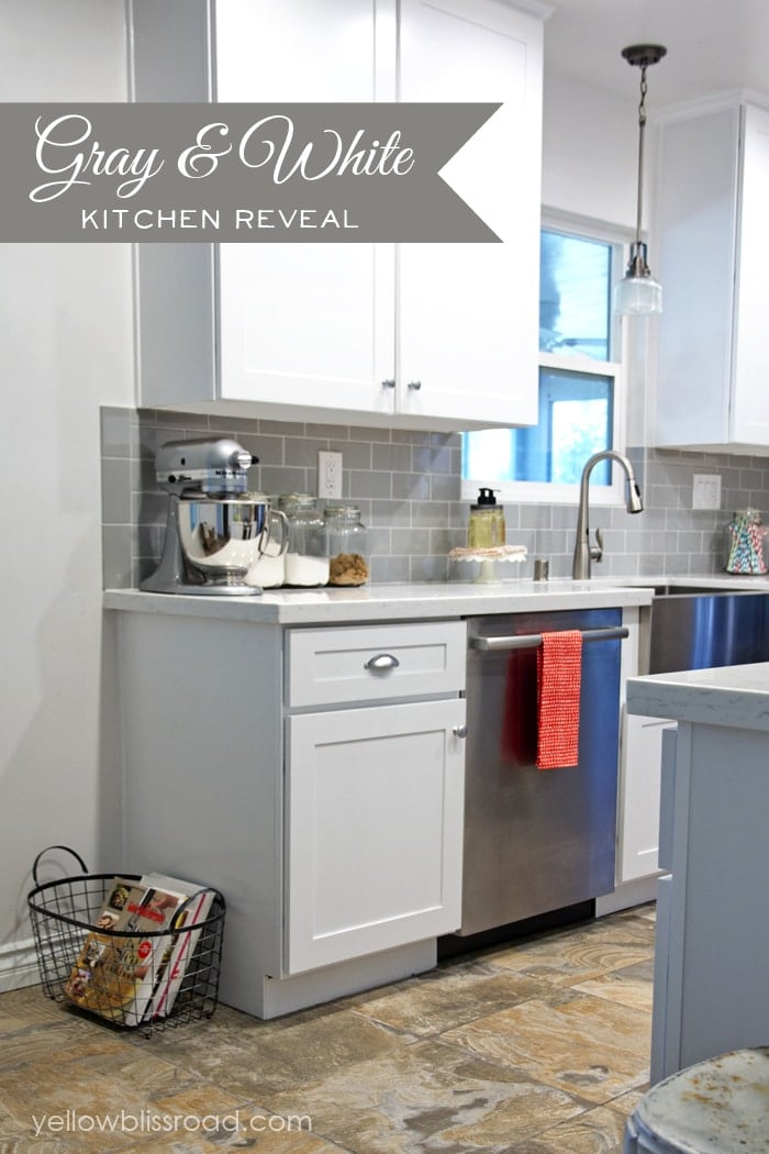 Gray and White Kitchen Reveal - You have to see the before!!