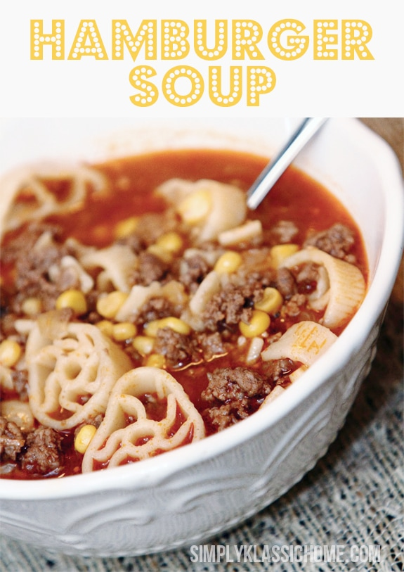 Hamburger Soup @Simply Klassic