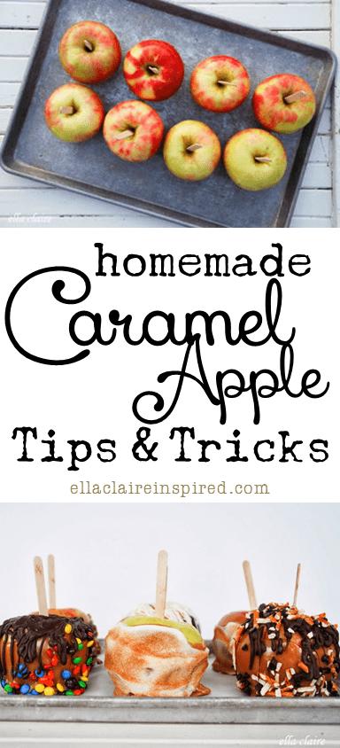 Social media image of Homemade Caramel Apple Tips and Tricks