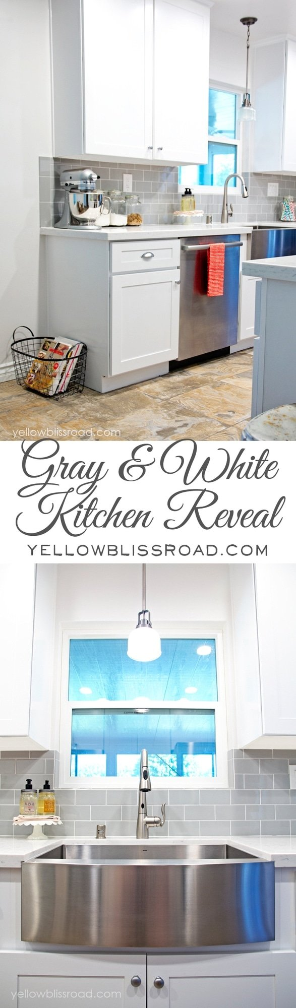 Gorgeous Gray and White Kitchen Reveal