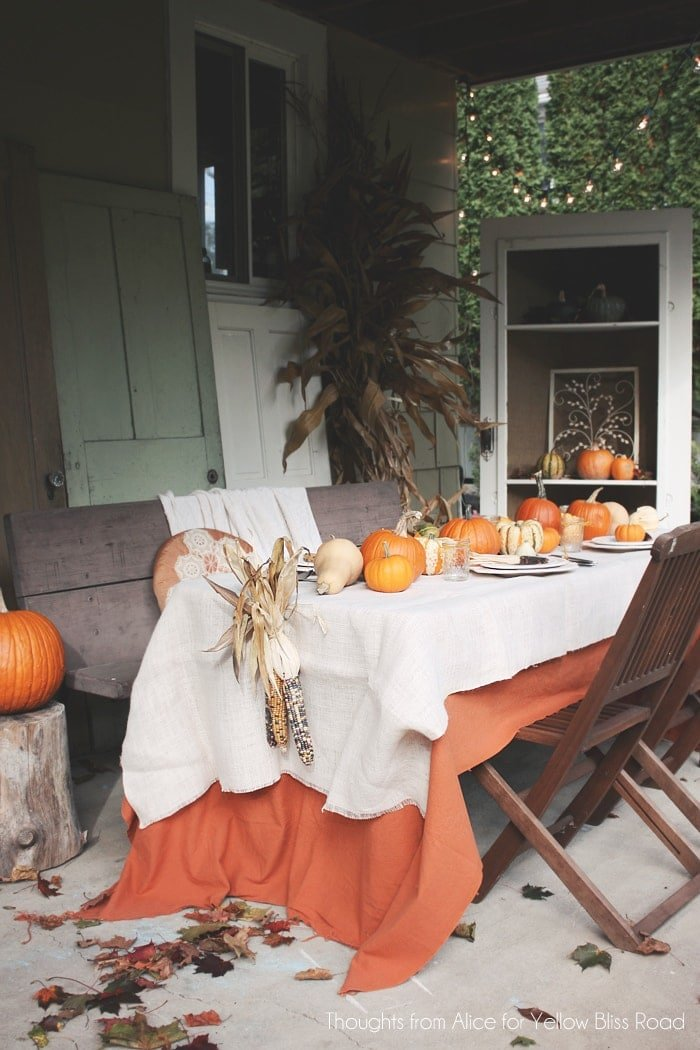 Outdoor Patio Thanksgiving Table