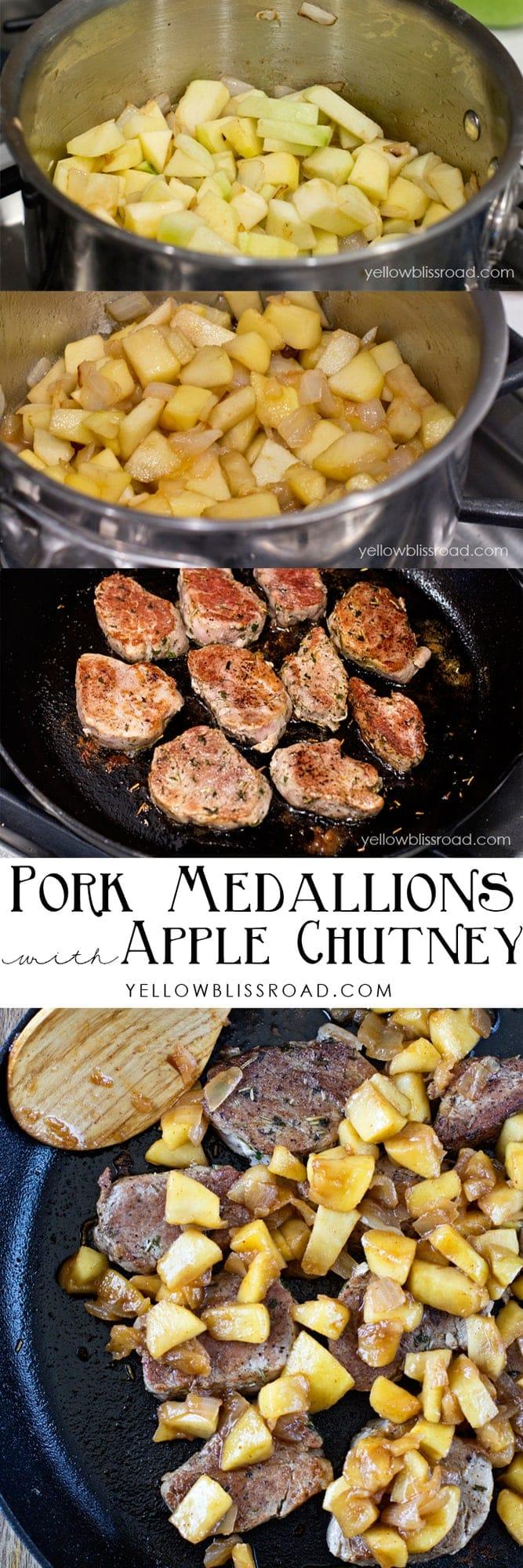 Pork Medallions with Savory Apple Chutney