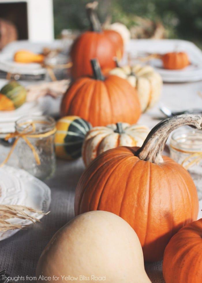 Pumpkin Thanksgiving Centerpiece