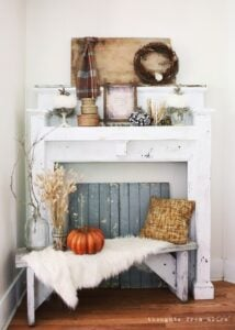 Rustic White Mantel Decor for Fall