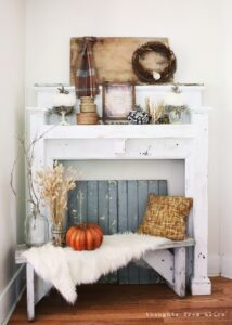 Rustic White Mantel Decor for Fall