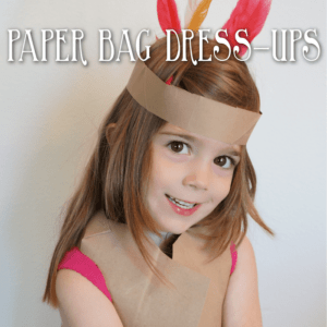 Thanksgiving Activities for Kids - Paper Bag Dress Ups