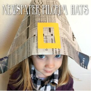 Thanksgiving Newspaper Pilgrim Hats