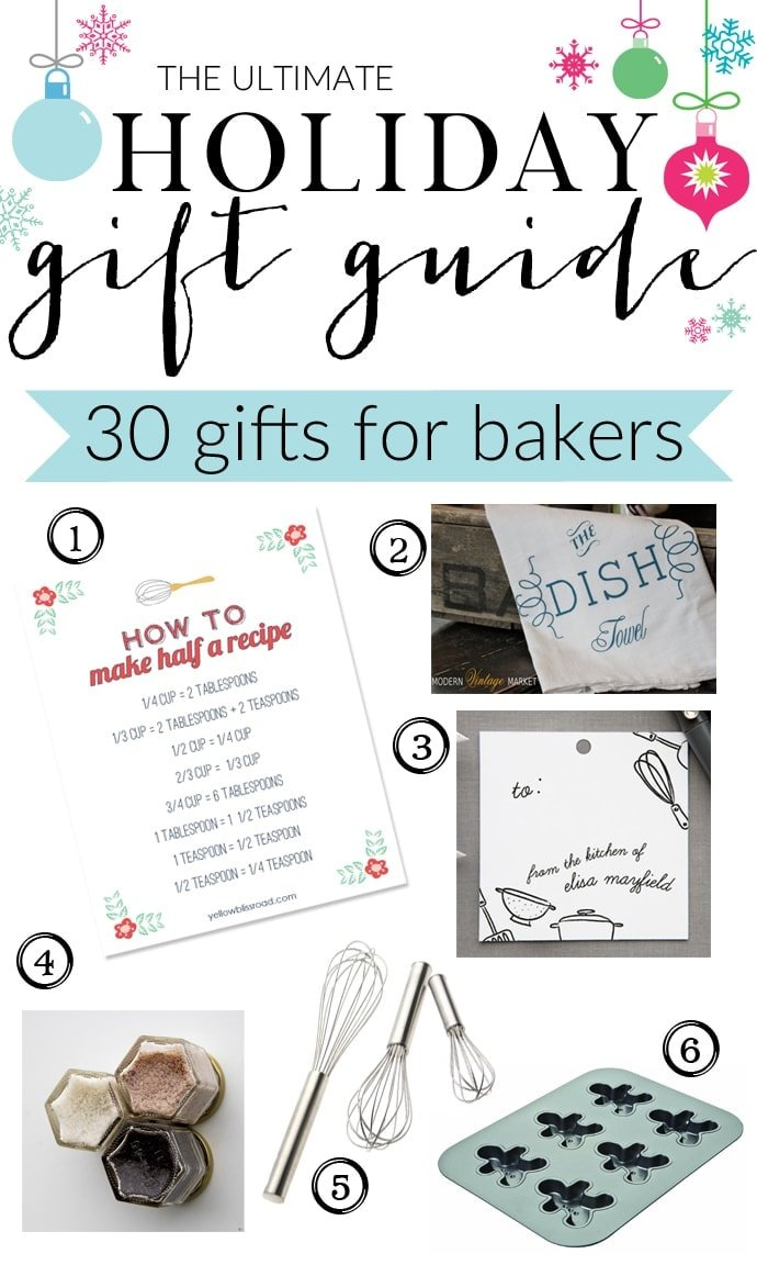The Ultimate Holiday Gift Guide for Bakers with gifts for eveyone and every budget! 5