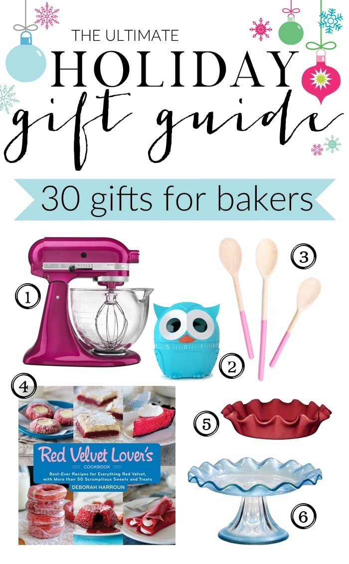 The Ultimate Holiday Gift Guide for Bakers with gifts for eveyone and every budget!