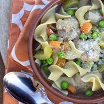Turkey Meatball Soup and Teaching Kids to Cook