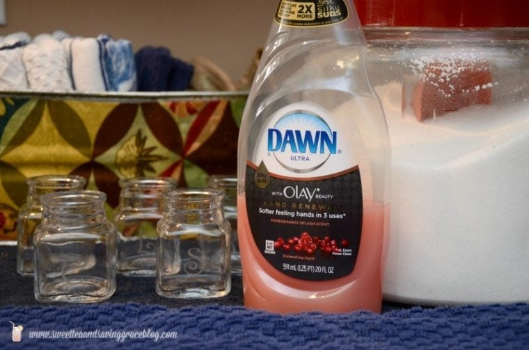A close up of a bottle of dawn dish soap