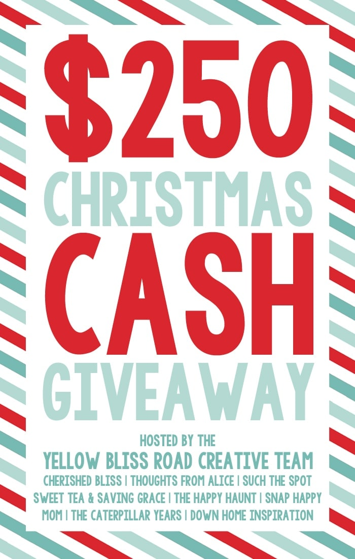$250 Christmas Cash Giveaway from the Yellow Bliss Road Creative Team