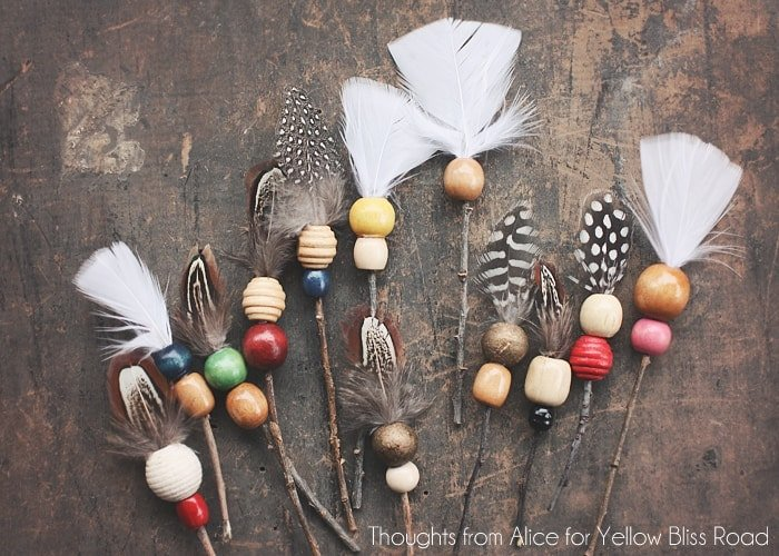 Handmade Christmas Ornaments: Rustic Twig Arrows