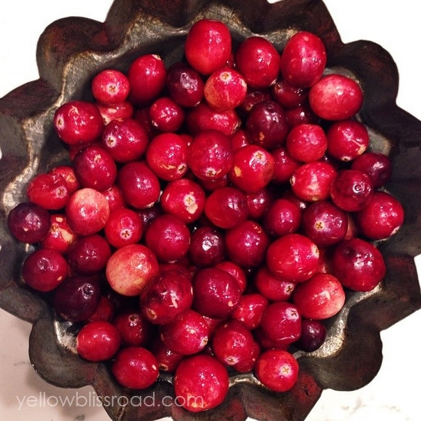 Beautiful bowl of cranberries