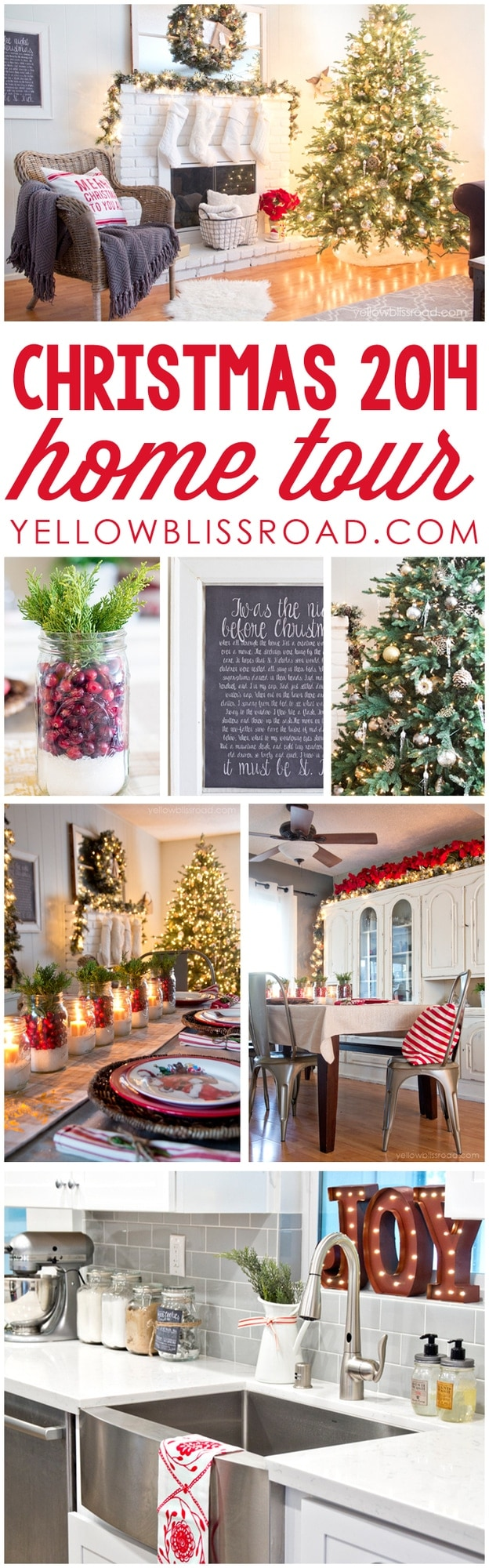 Christmas Home Tour 2014 at Yellow Bliss Road