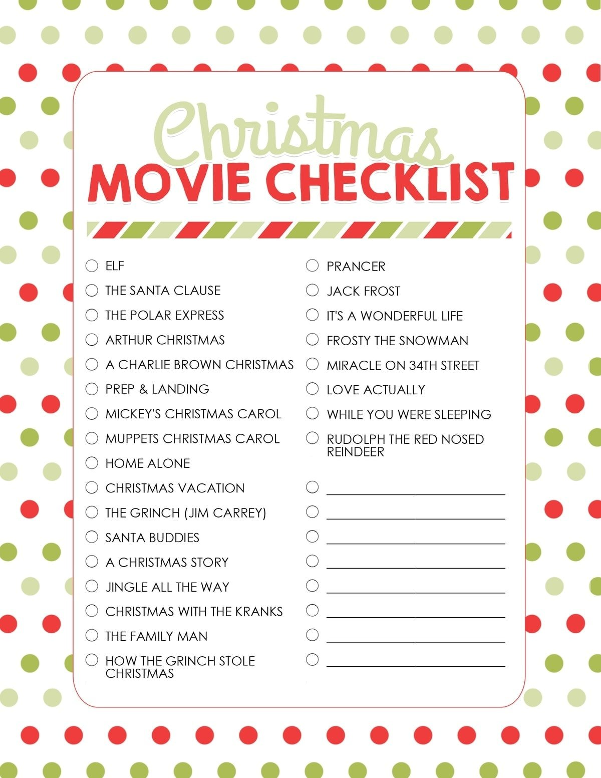 How to Plan a Christmas Movie Night (with Free Printables) - Yellow ...