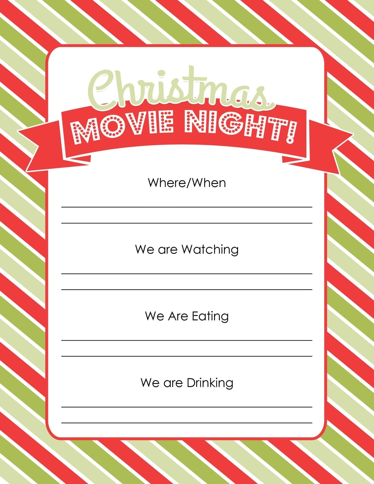 Christmas Movie Night with Free Printables (Best Christmas Movies)