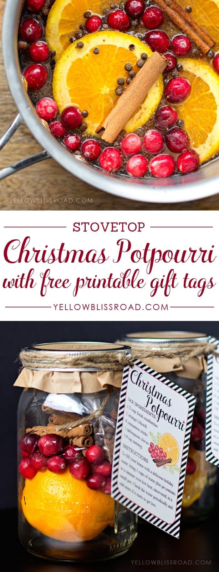 Christmas Potpourri Gift Idea & Free Printable ...
