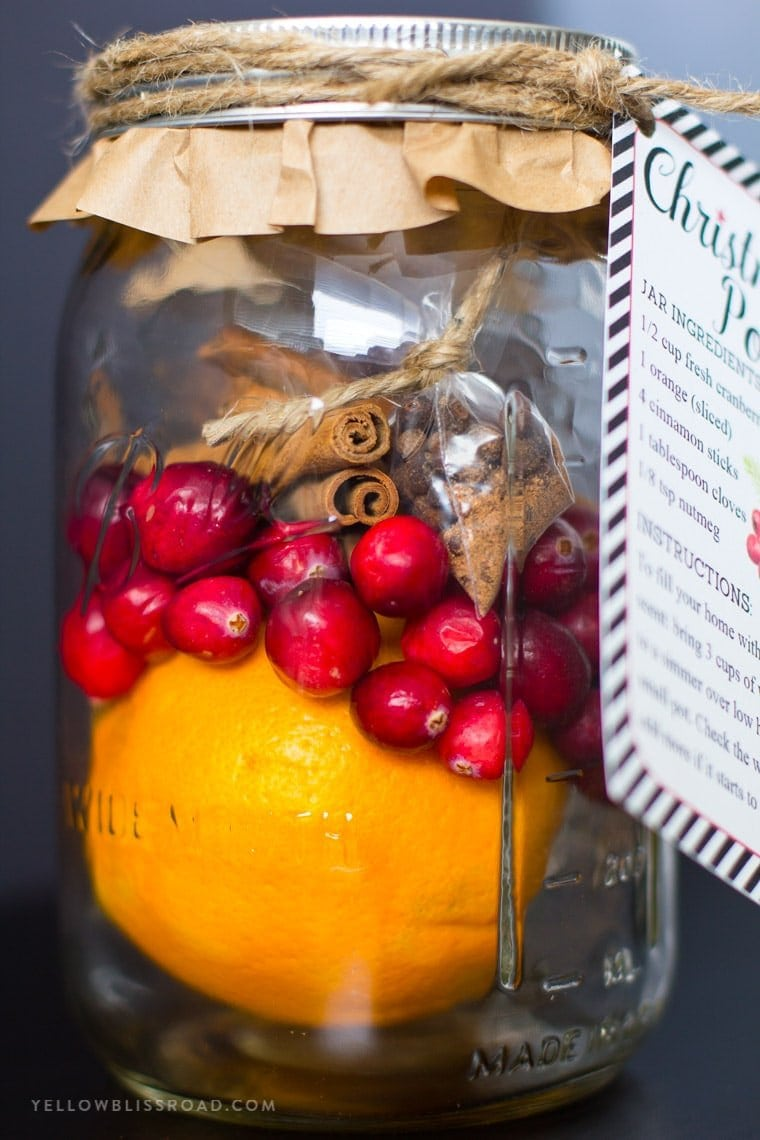 DIY Christmas Gift for Neighbors | Christmas Potpourri in a Jar with Free Printable Gift Tag