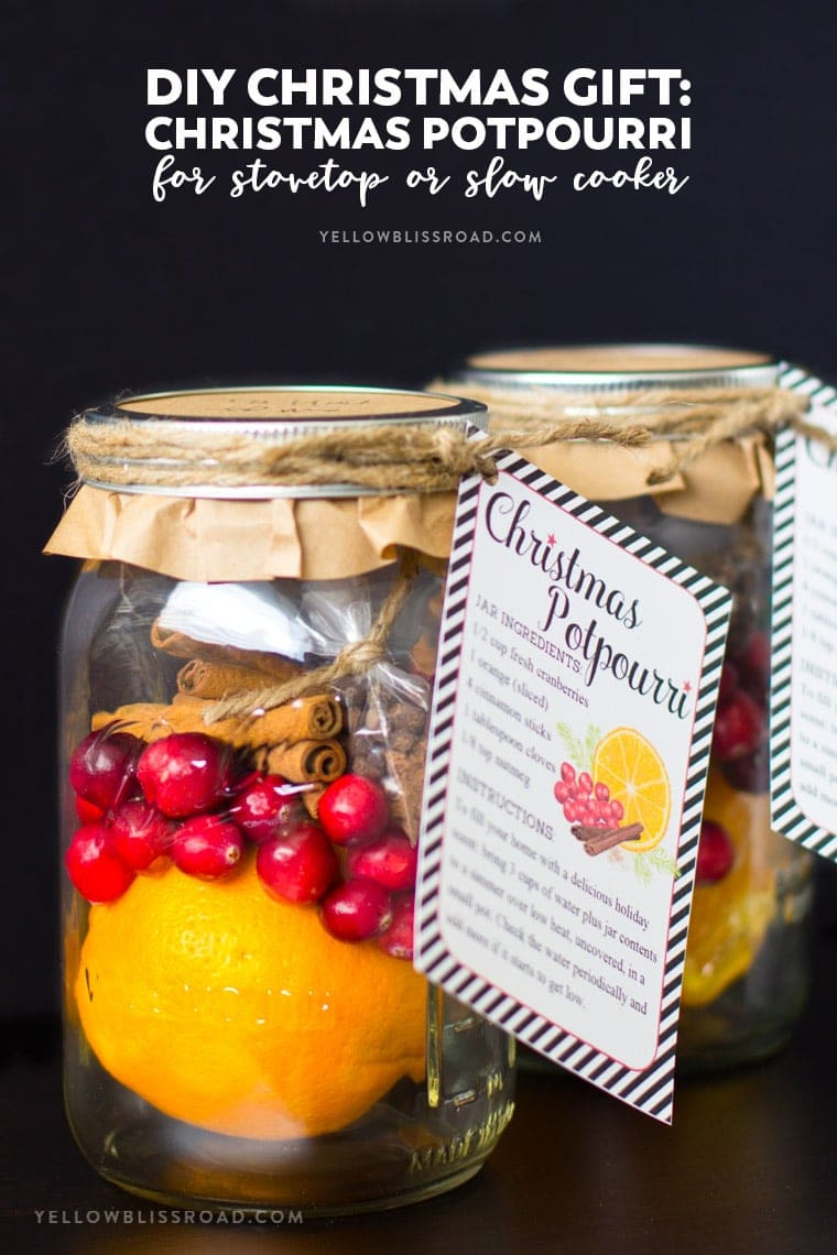 Diy Christmas Gifts Christmas Potpourri In A Jar Free Printable Gift Tags