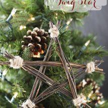 Handmade Ornament: DIY Rustic Twig Star