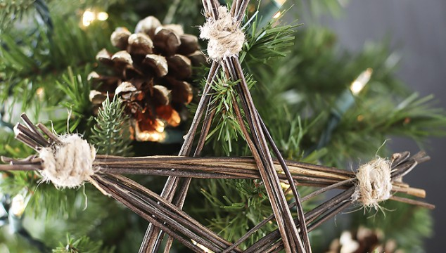 Handmade Ornament: DIY Rustic Twig Star